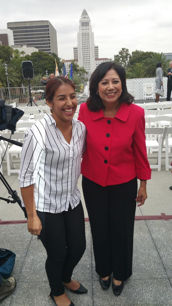 Gracias @HildaSolis for supporting our youth #LACountyYouthJobs