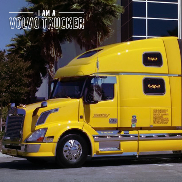 """Volvo Trucks North America on Twitter: """"A bright yellow Volvo VNL 780 looks great with palm ..."""
