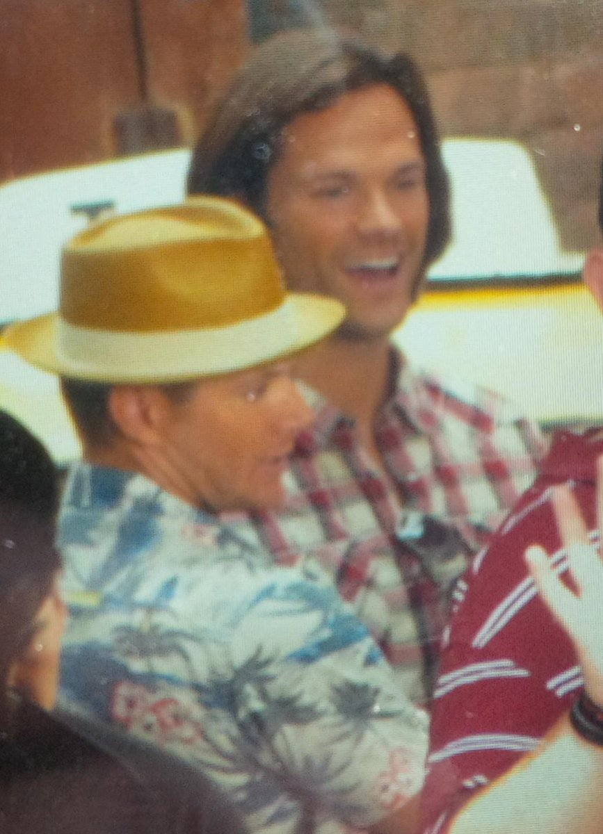 #Supernatural stars Jared Padalecki and Jensen Ackles, with his directors hat on? #SPN http://t.co/X8BONV0HCo