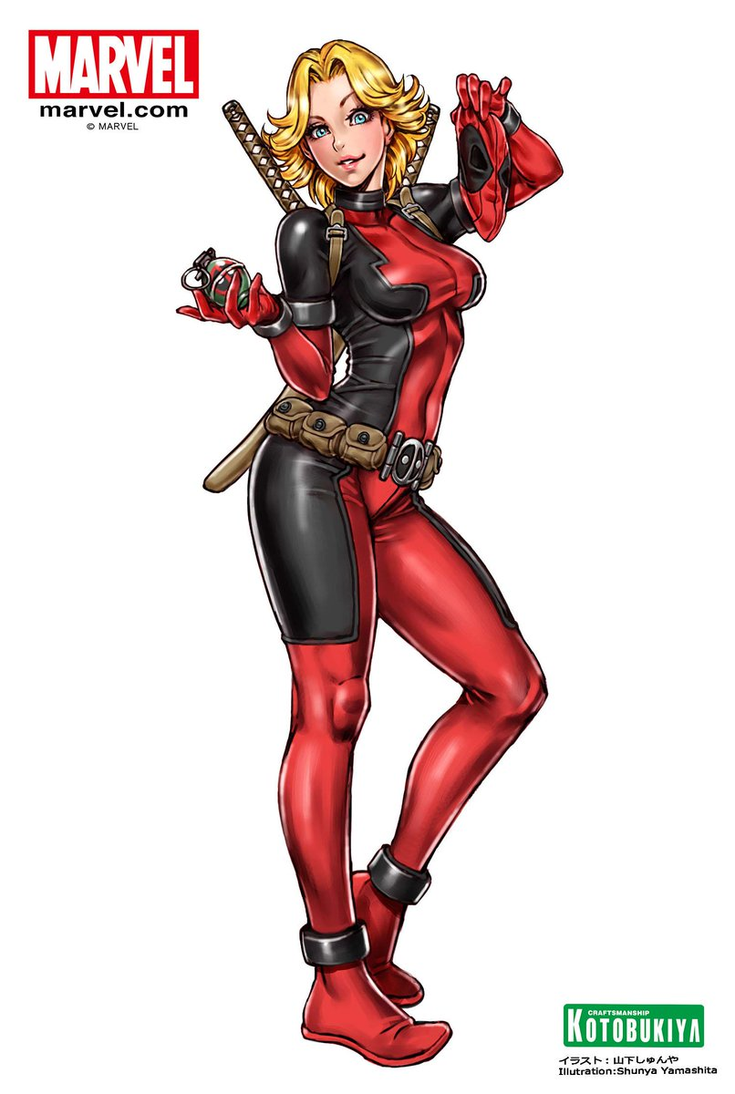 Bishoujo Illustrations: Lady Deadpool Unmasked by Shunya Yamashita #Kotobukiya #Marvel #SDCC http://t.co/dggjxws5ZK