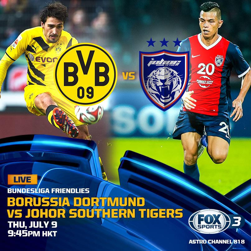 TONIGHT....@BVB vs. @OfficialJohor. Who will win? Catch it LIVE tonight on FOX Sports. http://t.co/eZBcr38scs