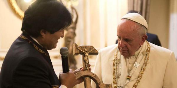 Evo Morales e Papa Francesco