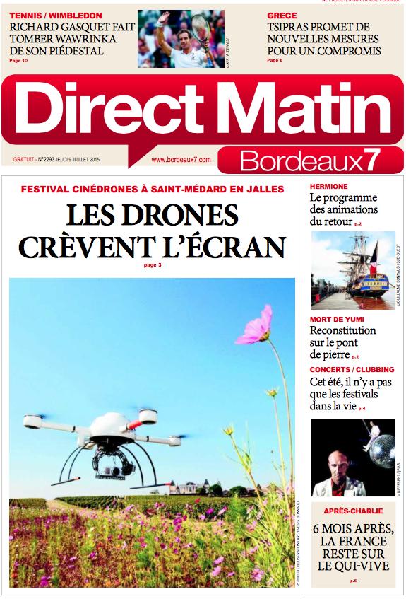 """@Bdx_Technowest organise @FestiCineDrones ITW de @gpetaux dans @Bordeaux7 """"Les #drones crèvent l'écran"""""""