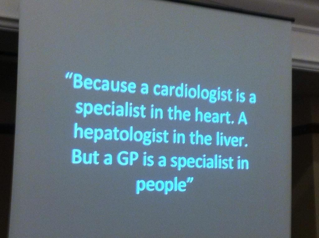 GP trainee's reasons to be a GP #SheffGP15 @DocDomP @purmj @rcgp #futureGP #TheBecauseProject http://t.co/7A3jMSw18h