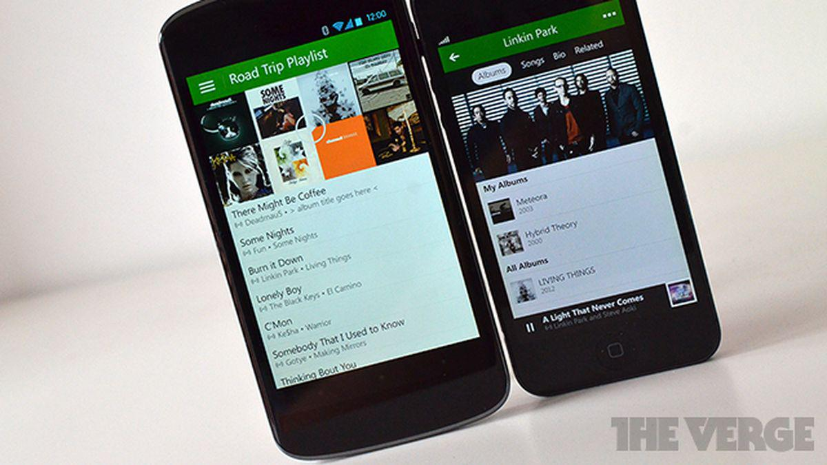 Xbox Music for iOS and Android now streams songs from OneDrive for free