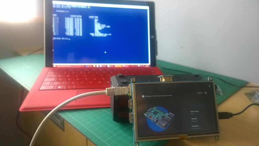 Expanding my mind - PowerShell on a Pi running #win10 IoT http://t.co/QYxMgXEIw7