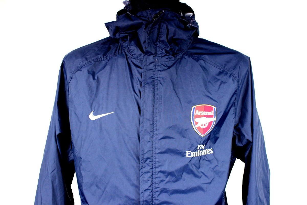 8b09cb91ee  Arsenal LONDON NIKE TRAINING  TRACKSUIT  WINDBREAKER LONG SLEEVE JACKET  SIZE (L) ...