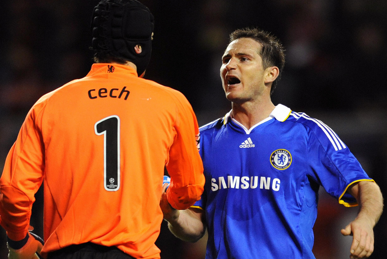 CECH FELL OUT WITH SACKED LAMPARD