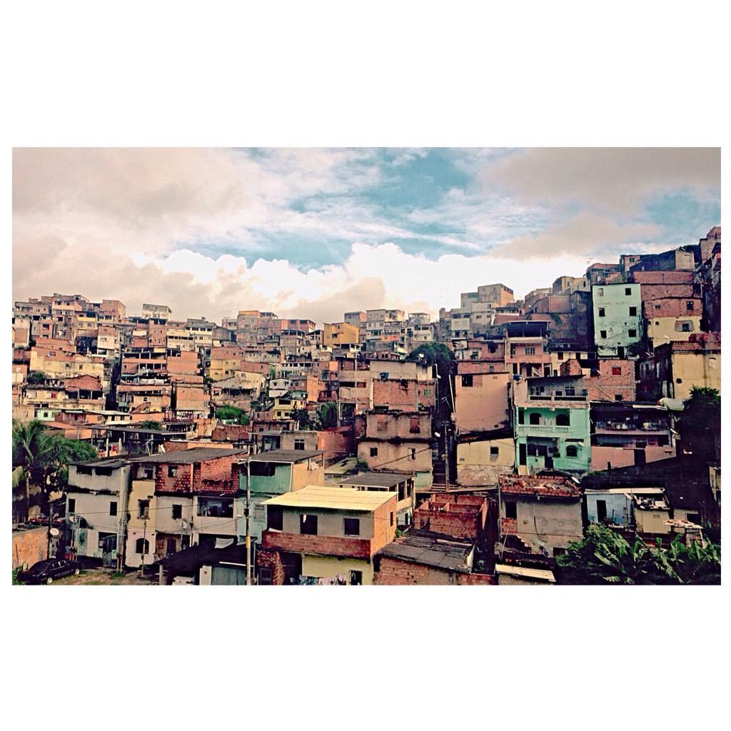 This is Brazil, too. Passing by Salvador's favelas (shantytowns) – among the country's most populous. http://t.co/yuqsWvGNLU
