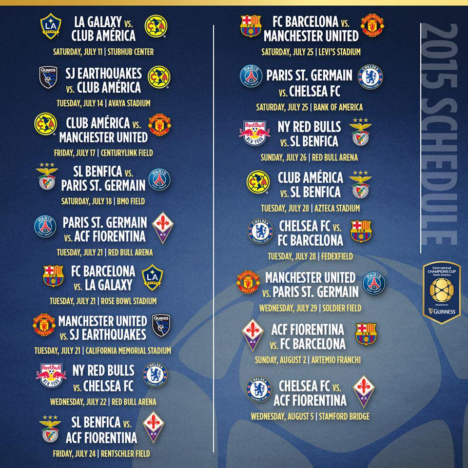 International Champions Cup: Preview And Schedule: International Champions Cup In