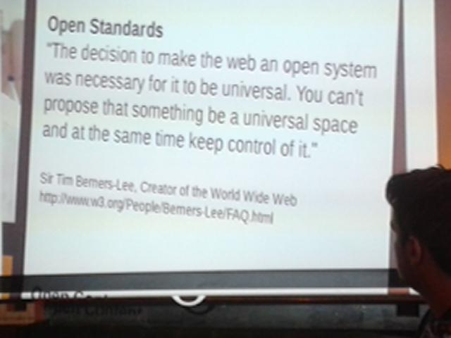 Open source, standards and content discussions and presentation @GeekeasyDerby. This quote leads the way! http://t.co/FI5V97t7PX