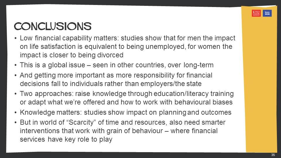 .@BobbyIpsosMORI: Low financial capability matters for both men (#unemployment) & women (#divorce) #KingsIpsosMORI http://t.co/bzfYdQbaqt