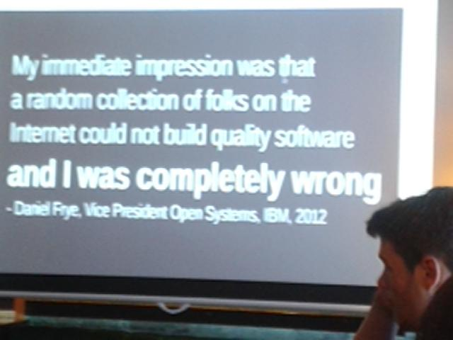 How wrong some people have been about open source .... @_mbooth speaking @GeekeasyDerby http://t.co/55DAuo7dwi