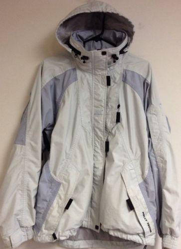 81a96533e3b  Women s  helly  hansen hooded ski snowboard jacket coat size l large light  blue