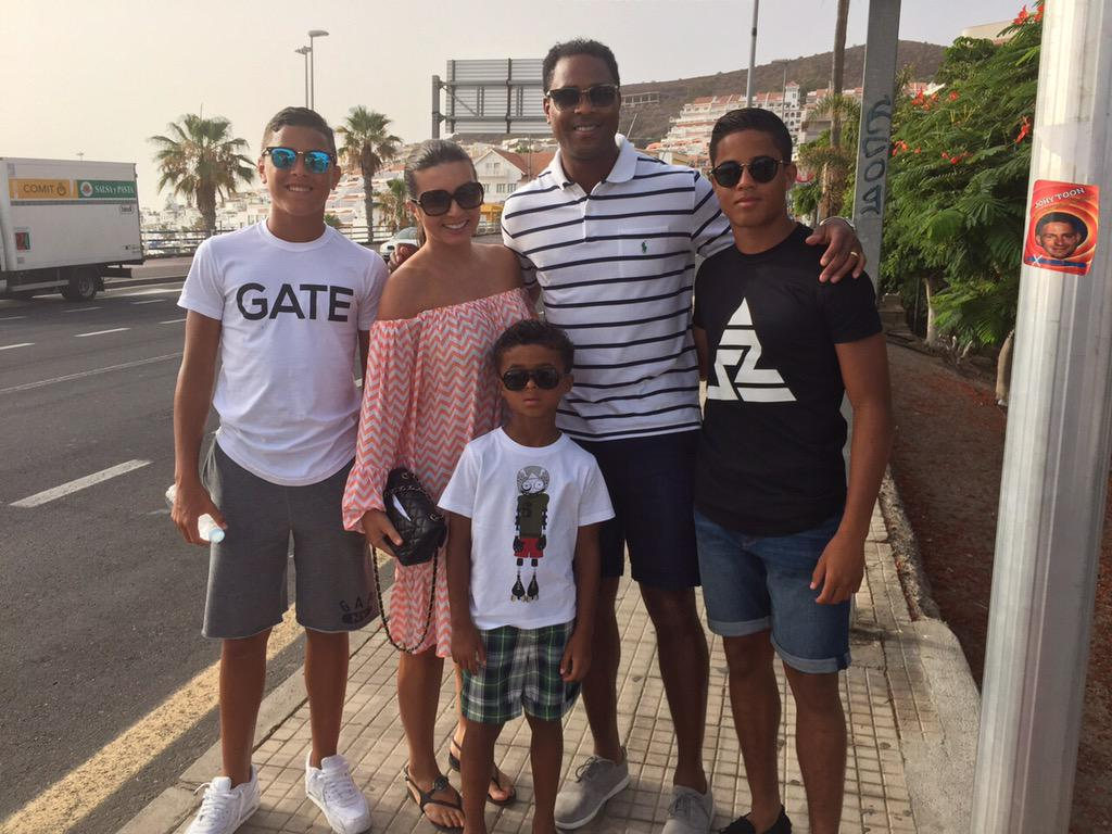 Photo of Patrick Kluivert & his  Son  Ruben Kluivert