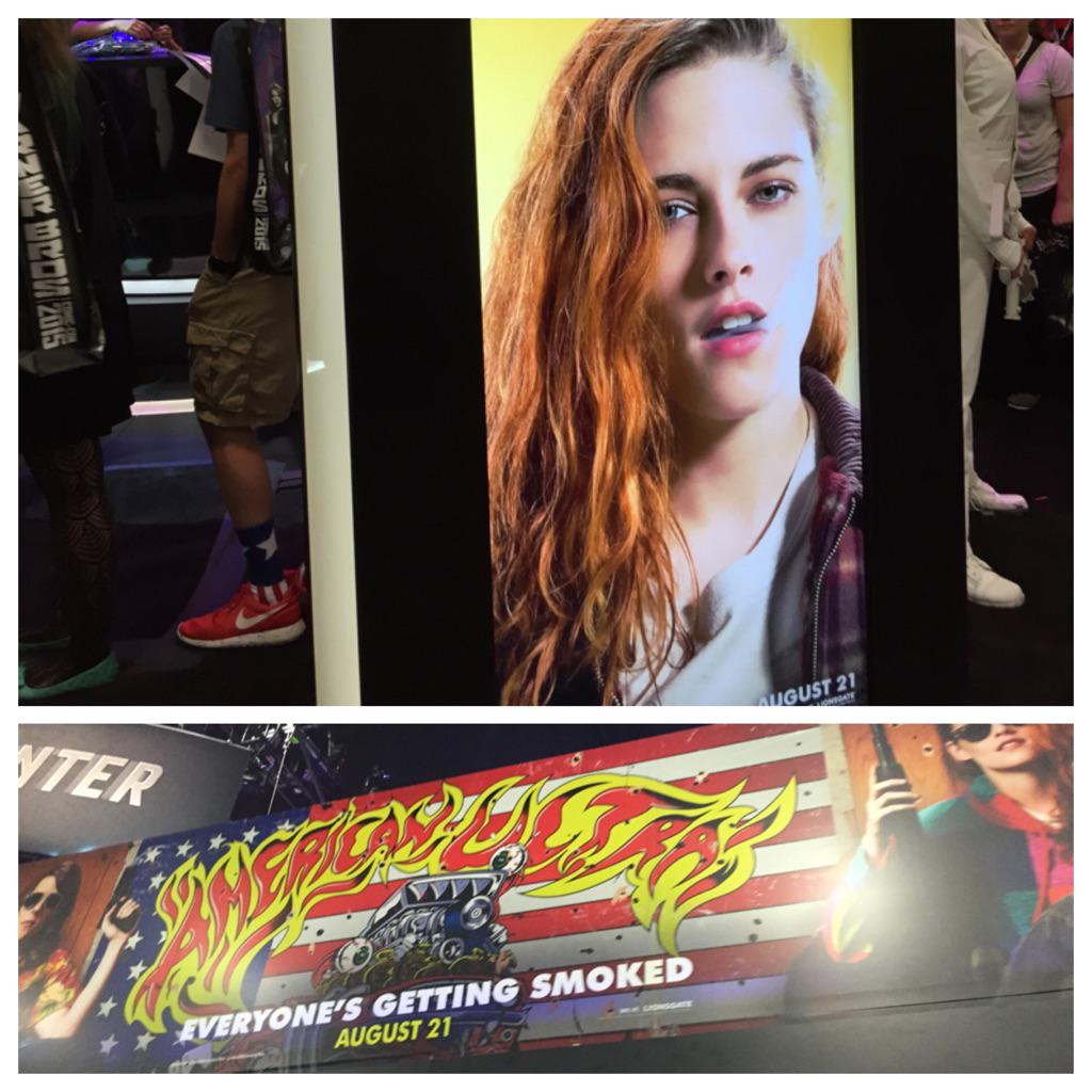 #AmericanUltra at @lionsgatemovies booth #ComicCon http://t.co/TY2OrH6SAX