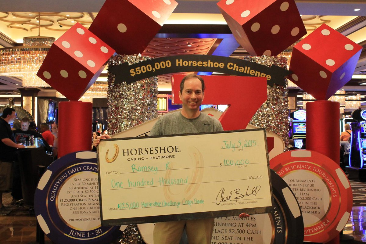 Horseshoe Casino Baltimore On Twitter Congrats To Craps Winner Ramsey Be The Next 500k Horseshoe Challenge Winner Enter Weekend Baccarat Tournys In July Http T Co Iv83rfve4y