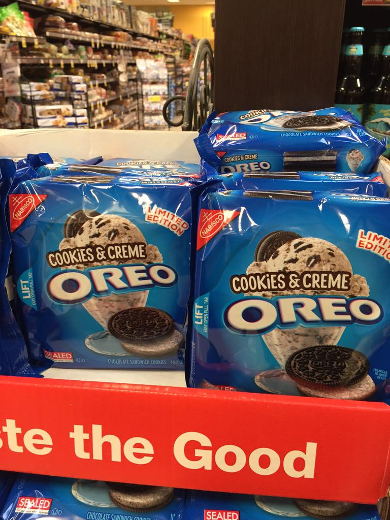Finally: Oreo-flavored Oreos. http://t.co/GZLiciWVZJ