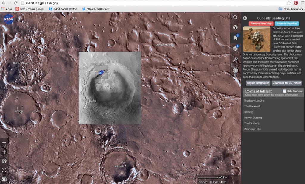 Explore Mars With NASA's Google Earth-Like Map