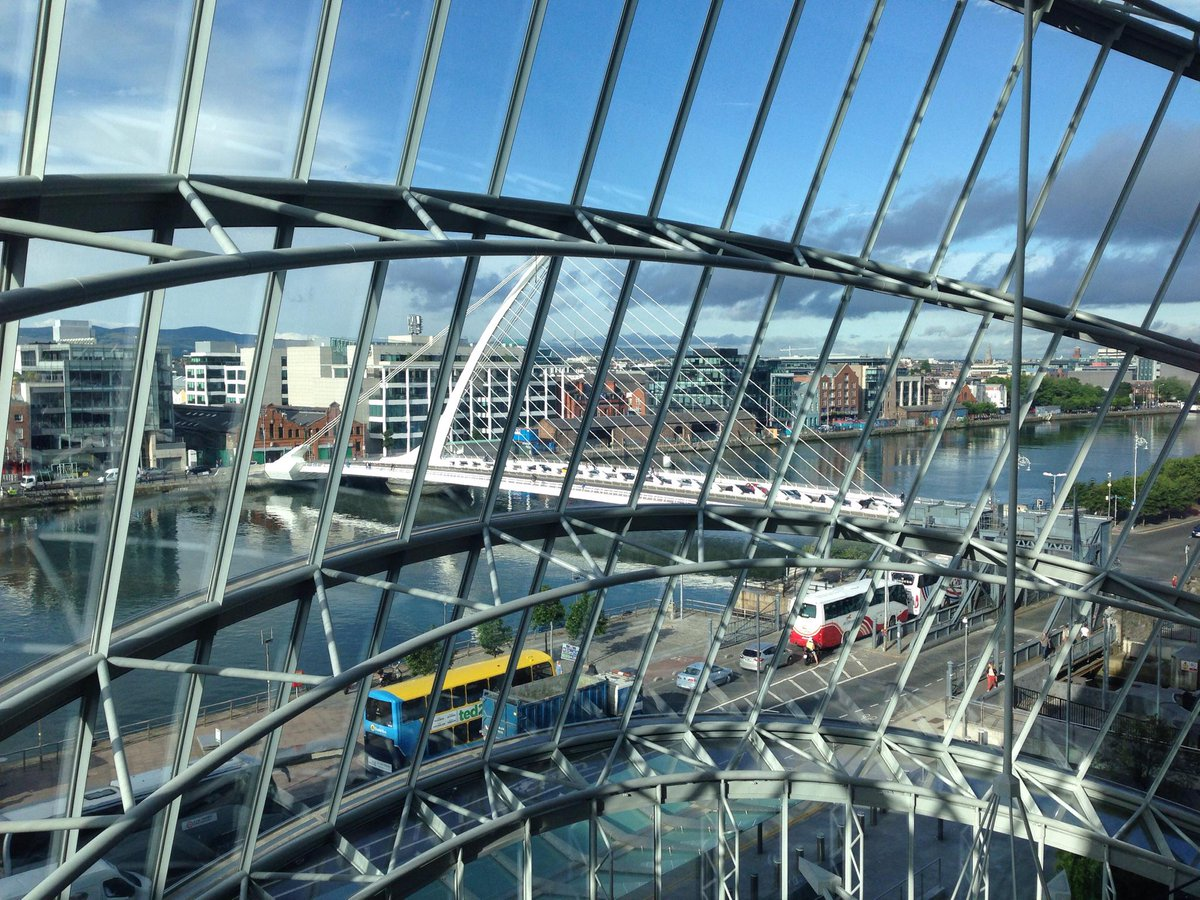 The view out of the Dublin Convention Centre glass wall is pretty good #BOSC2015 #ISMB2015 http://t.co/RsT8rmzHmd