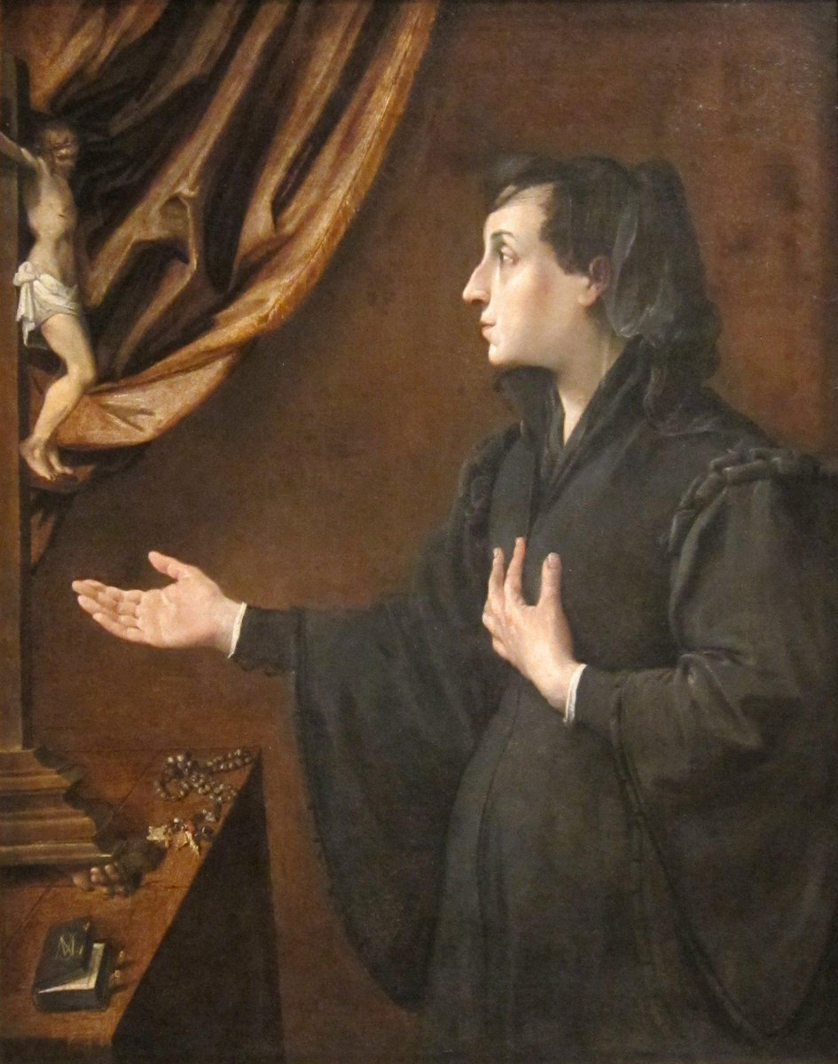 Campbell: importance of gesture during prayer illustrated in Portrait of a Widow by Ludovico Carracci #placeofpiety http://t.co/ncFjNSCVVn