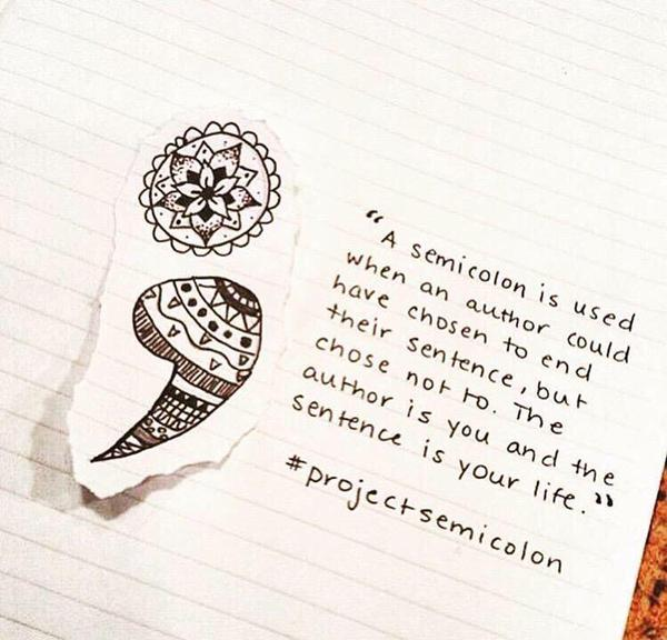 "Passionate Anxiety Tattoo For Women: Susan Rae On Twitter: ""#ProjectSemicolon Is Beyond"