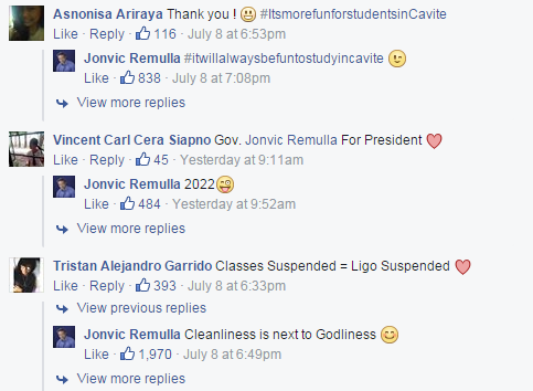 VIRAL: How Cavite governor announces class suspensions 1