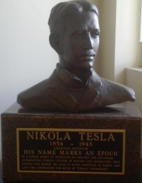 Nikola Tesla born this day in 1856.  Drop by Barker Library to pay respects to the Tesla bust. http://t.co/k9aYWmNIbb http://t.co/qjFPo2qxVw