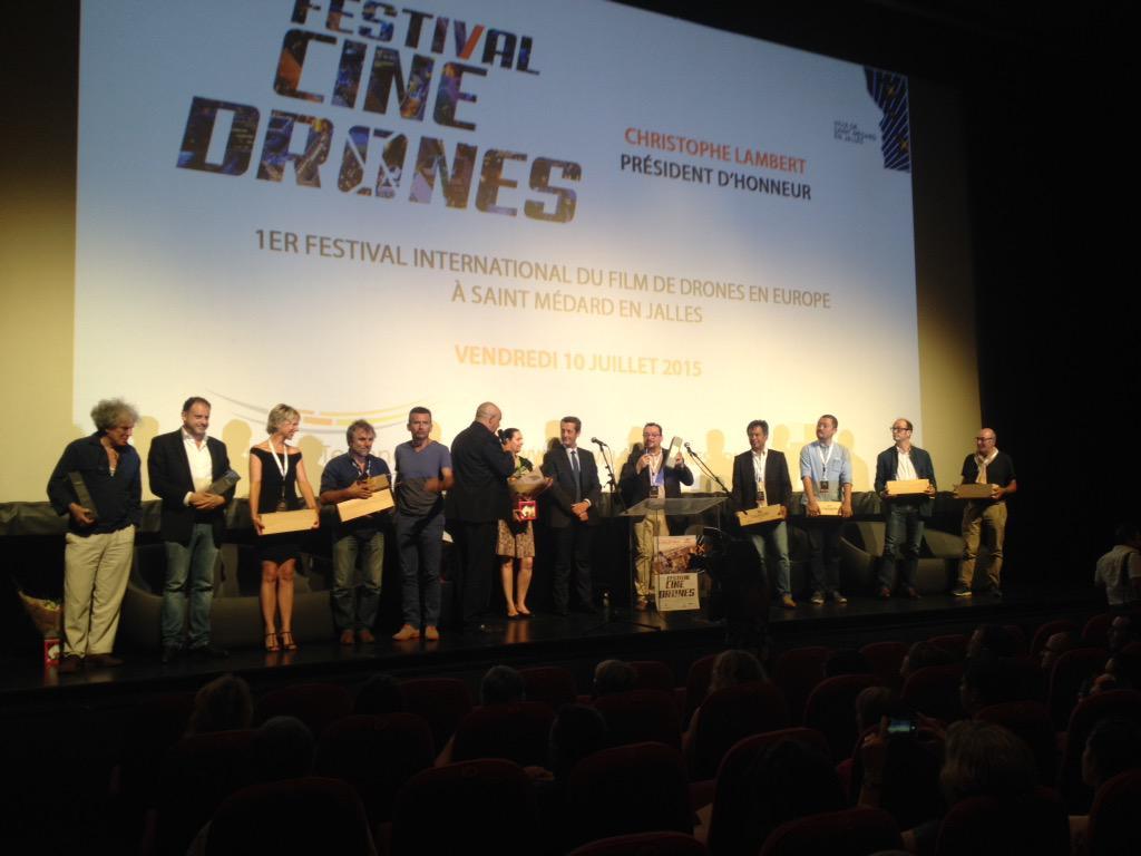 Un grand merci au #jury #intervenants #organisateurs pour cette première #edition du @FestiCineDrones