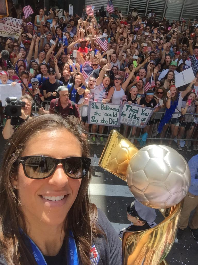 And here is a #USWNTParade selfie donated to @coachgalanis  by @CarliLloyd http://t.co/J0nGnkYUIp