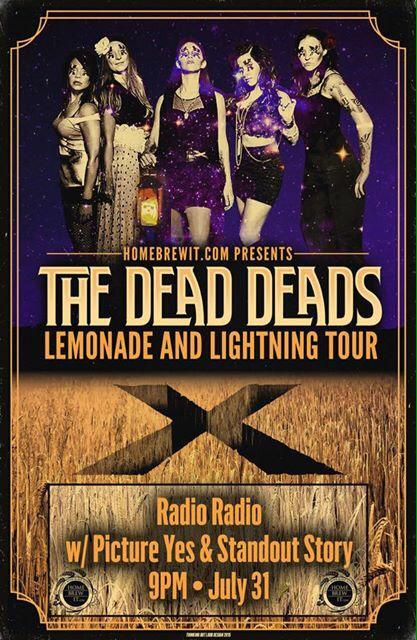 My band @PictureYes along with @StandoutStory and @TheDeadDeads 7/31 @radioradioindy http://t.co/l17lMAxznd