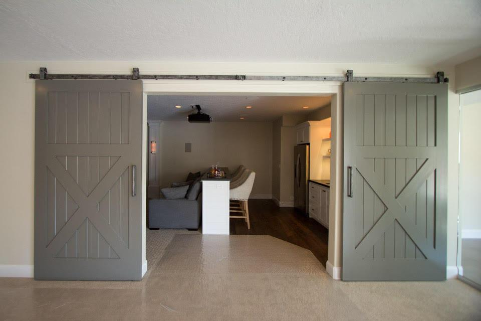 Rustica hardware on twitter barn doors to separate a for Barn doors to separate rooms