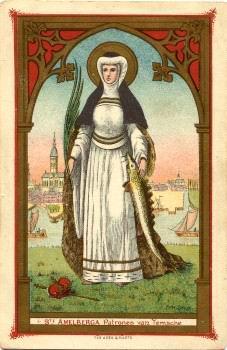 #Santoral | Hoy la Iglesia recuerda a Santa Amalberga (Amalburga, Amelia o Amalia)