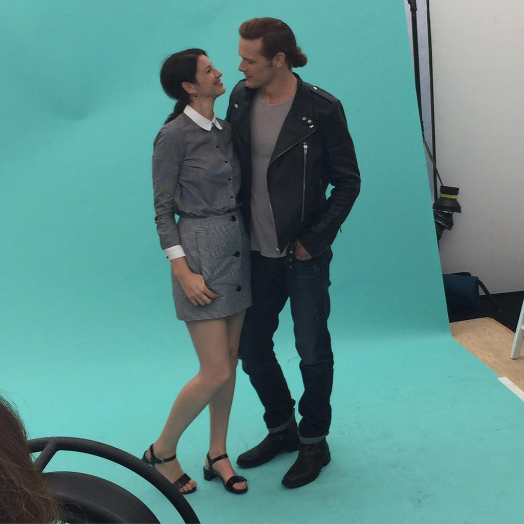 Love these two. @Outlander_Starz @SamHeughan @caitrionambalfe #TVGMYacht #SDCC #Outlander http://t.co/5GksJZrjec
