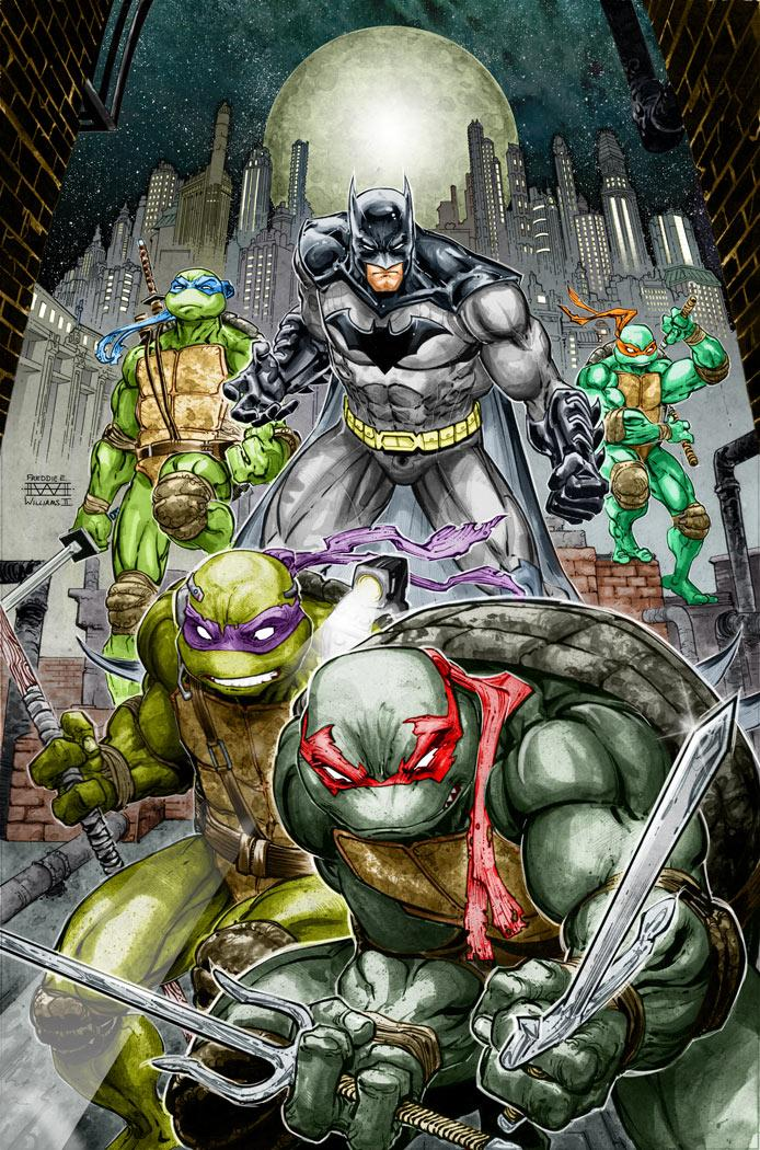The Dark Knight Meets The Heroes In a Half Shell http://t.co/Es6huozt1q @DCComics @IDWPublishing @kevineastman86 http://t.co/RdlnwhqflT