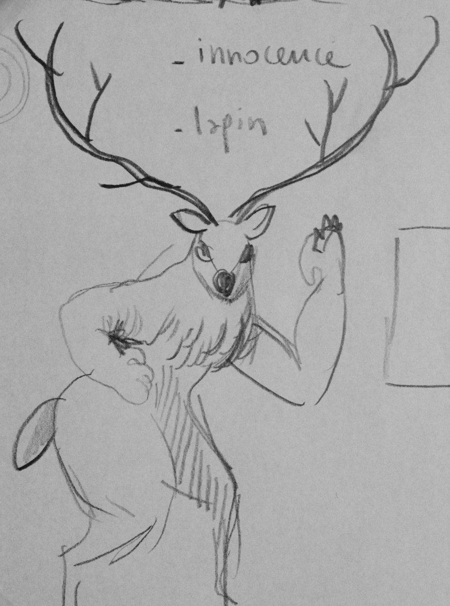 *LE* cerf le plus pumped up de la forêt! #hitsplayjam #gamejam #conceptart  @CharlesBoury http://t.co/J8fQ7jf7ma