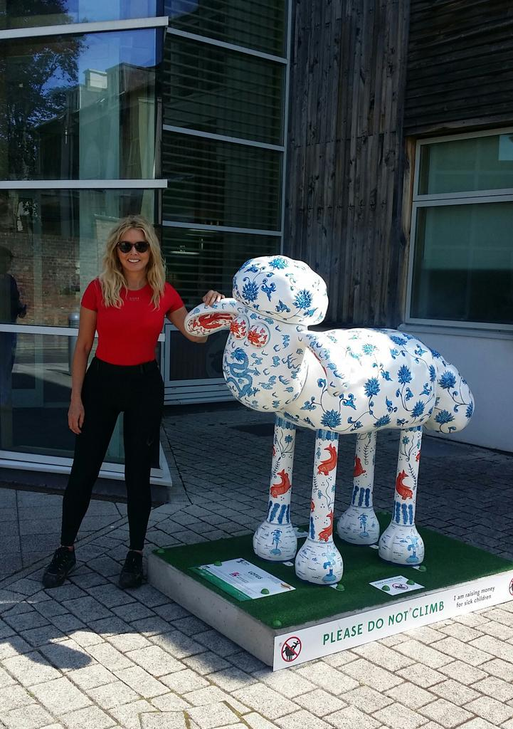 On the @shaun_inthecity trail... Say hello to Lotus outside @aardman head office.. Shaun's home x http://t.co/J3QSKelr4A