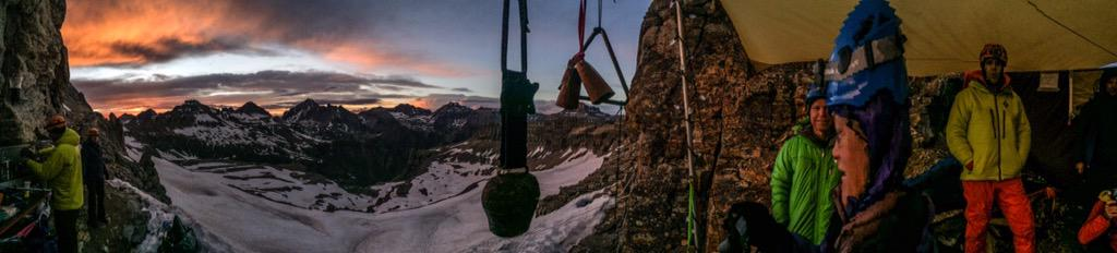 This is the reason I love this race #Hardrock100 Sunset from Virginia pass at 4000m