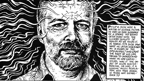 The great R. Crumb illustrates Philip K. Dick's famous hallucinatory spiritual experience http://t.co/0kwupUnKTZ