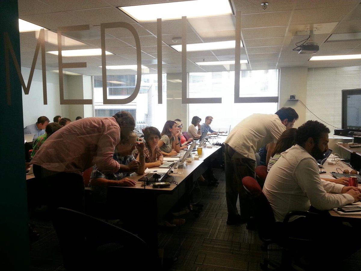 #HowYouLearnDataJournalism. At @IRE_NICAR @NatSecZone @MedillSchool workshop with @nixonron @akesslerdc @dataeditor http://t.co/c4bnxGJWKX