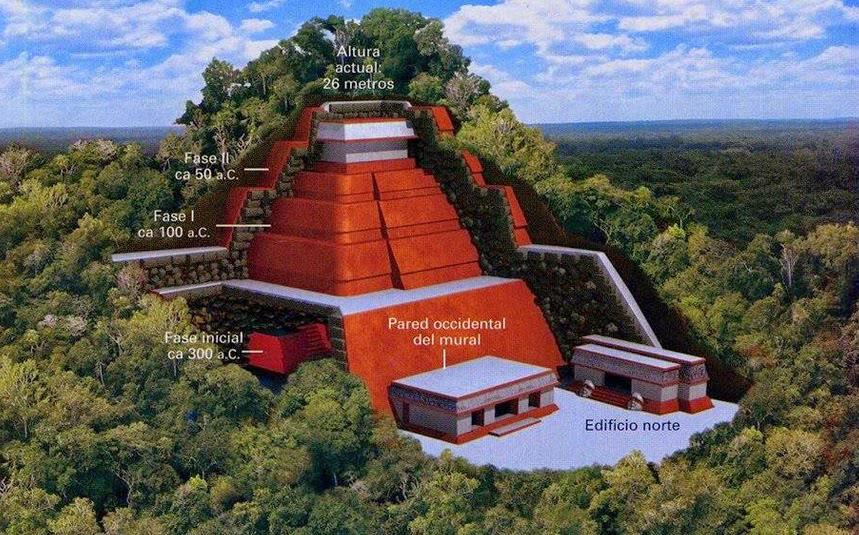 Piramide Maya di Toniná Chipas Messico