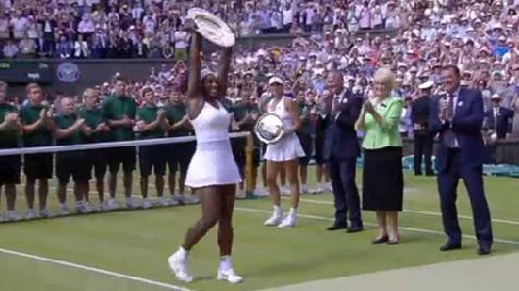 Serena Williams regina di Wimbledon