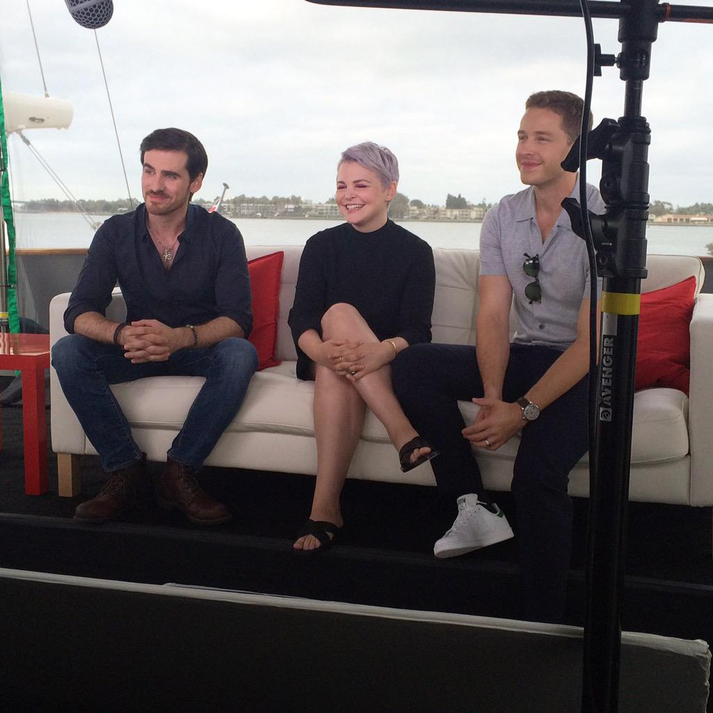 Early morning with the @OnceABC crew on the #TVGMYacht #SDCC http://t.co/XvzwvHCKph