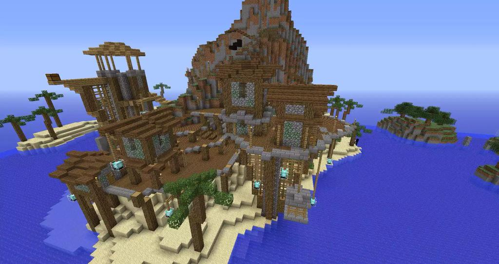 Minecraft Creations On Twitter Really Cool Island House In Minecraft Http T Co Oxybxdrndn