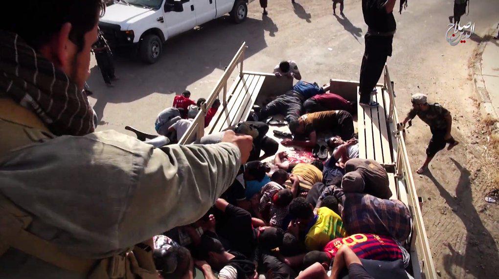 イスラム国がシーア派1600人虐殺時の未公開動画を公開(動画有)