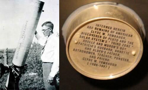 Clyde Tombaugh discovered Pluto in 1930, 85 yrs later some of his ashes are on @NASANewHorizons for #PlutoFlyby http://t.co/RkhN1VtGjR