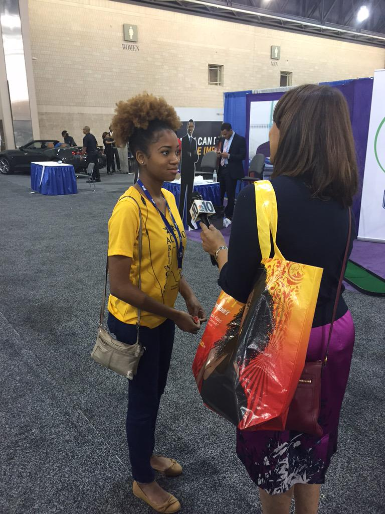 @MoniqueBraxton, NBC10 Philadelphia, interviews #ACTSO Oratory Olympian Felicia Johnson. #NAACP106 http://t.co/HQEloKHrt5