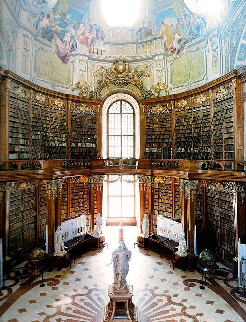 Beautiful #architecture and library: Austria National Library - Vienna, Austria http://t.co/IJgbt1IG1U