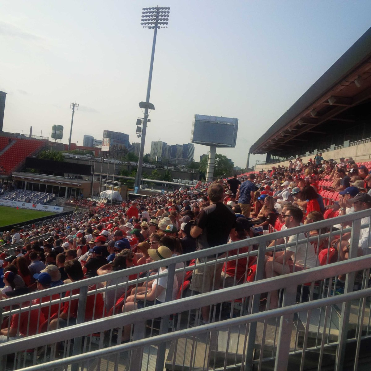 Good crowd for Rugby 7s. #PanAmGames #Mississaugacheers http://t.co/sR1hie3tiK