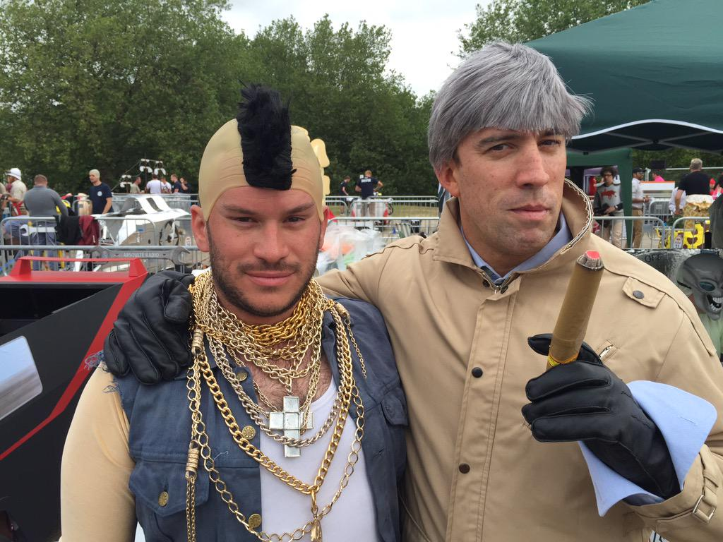 And now in costume, @OC and I as Hannibal and Mr T. #OCBreakfastClub @RedBullUK http://t.co/WsmMoMrNMf